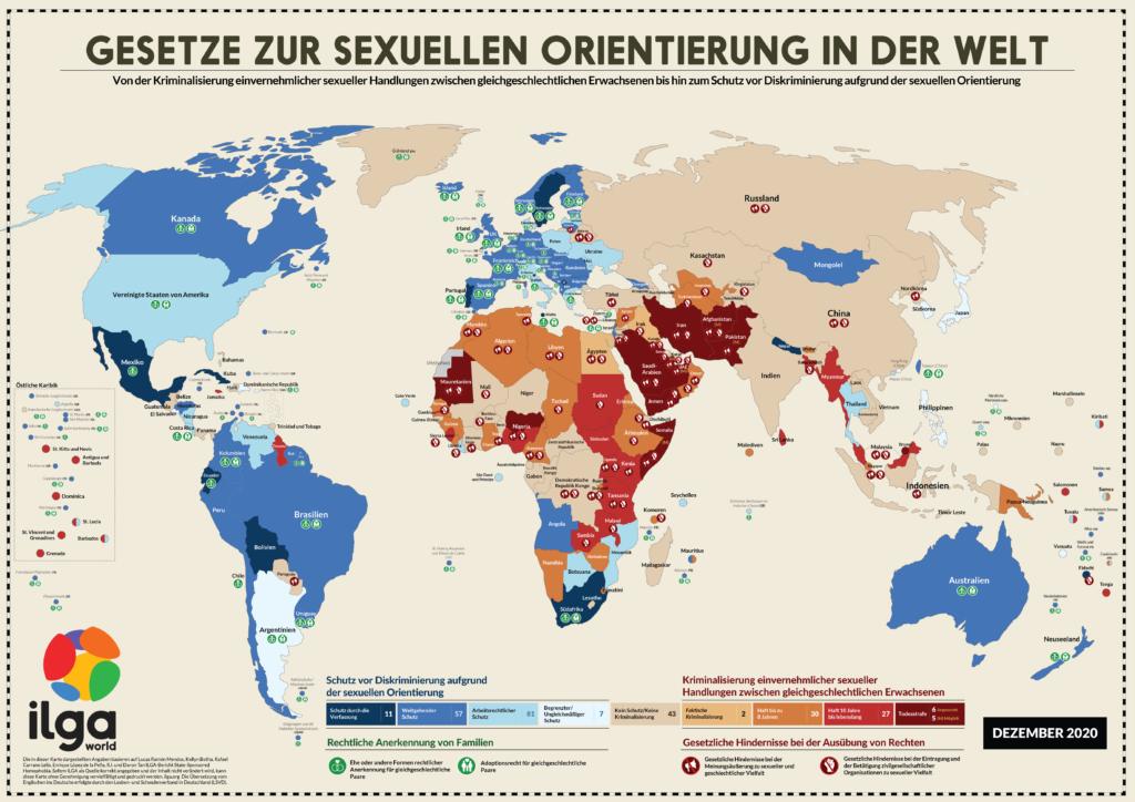 Gesetze zur sexuellen Orientierung in der Welt